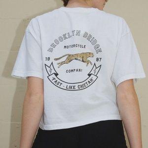 NWT Brandy Melville cheetah Brooklyn Aleena tee